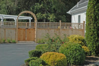 custom woodwork fence