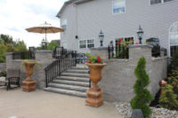 bi-level patios designed by Flagg's Garden Center