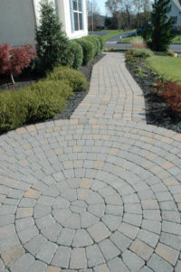 one of the stone walkways from Flagg's Garden Center