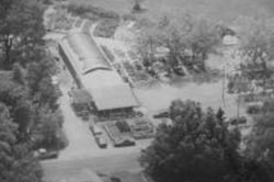aerial view of flagg's garden center in burlington county